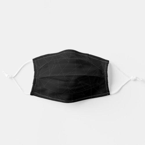 Black Minimal Modern Simple Men Cloth Face Mask