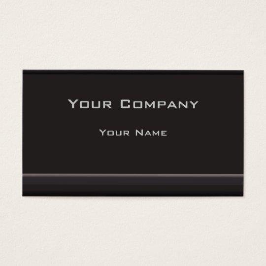Black Minimalistic Corporate  Business Card