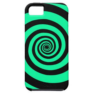 Black & Mint Carnival Vortex Iphone Case