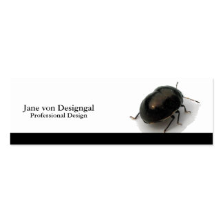 Black Minute Hooded Beetle Double-Sided Mini Business Cards (Pack Of 20)