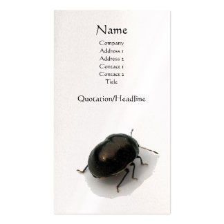 Black Minute Hooded Beetle Double-Sided Standard Business Cards (Pack Of 100)