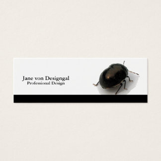 Black Minute Hooded Beetle Mini Business Card