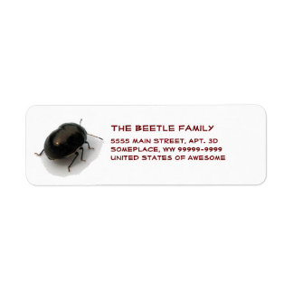Black Minute Hooded Beetle Return Address Label