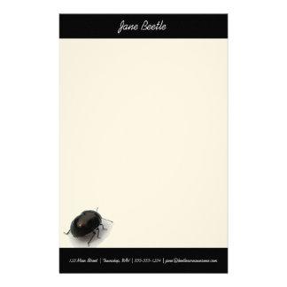 Black Minute Hooded Beetle Stationery