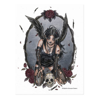 Black Misery Angel Postcard