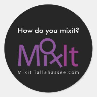 Black Mixit Sticker
