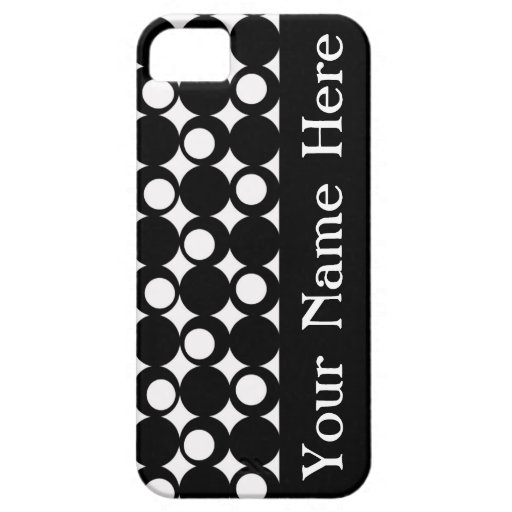 Black Mod Ball Design with name iPhone 5 Covers