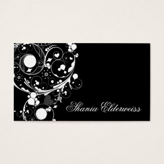 Black Modern Abstract Business Card Template