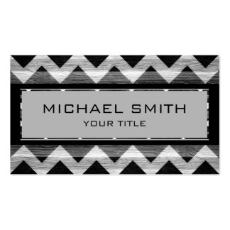Black Modern Chevron Pattern Business Cards