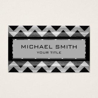 Black Modern Chevron Pattern Business Card
