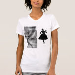 Black Modern Houndstooth with Fashion Silhouette Shirt