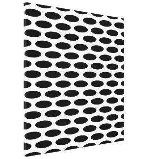 Black Modern Oval at Emporiomoffa Canvas Print