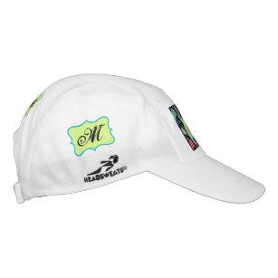 85c7b532 Black Modern Paisley Monogram Initials Custom Hat