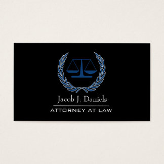 Black Modern Professional Lawyer Attorney Business Business Card