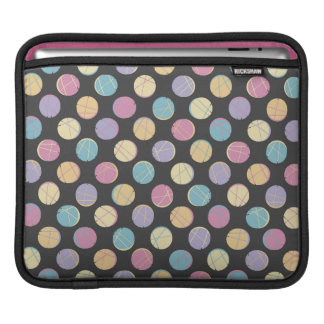 Black modern urban chic colorful dots ipad marries sleeve for iPads