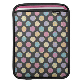 Black modern urban chic retro colorful dots marrie iPad sleeves