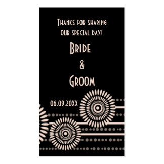 Black Modern Wedding Favor Gift Tags Thank You Business Card