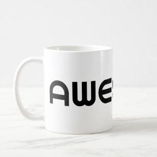 Black Modernist Bauhaus Awesome Word Coffee Mug