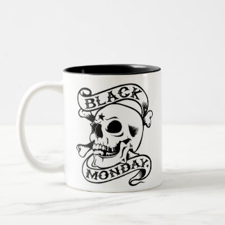 Black Monday Can't Stand You skull mug
