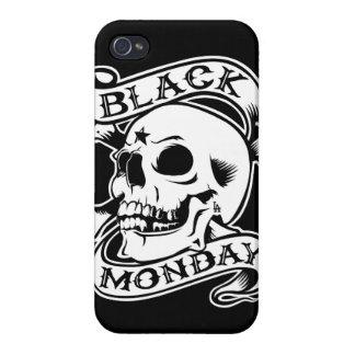 Black Monday Returns skull iPhone 4/4s case