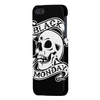 Black Monday Returns skull iPhone 5 case