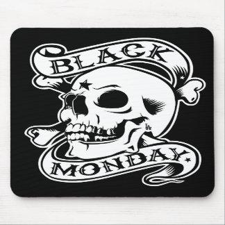 Black Monday Returns Skull mouse pad