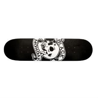 Black Monday Returns skull skate deck
