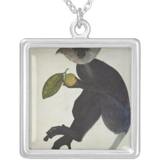 Black Monkey Silver Plated Necklace