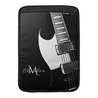 Black Monogram Music Guitar MacBook Air Sleeve
