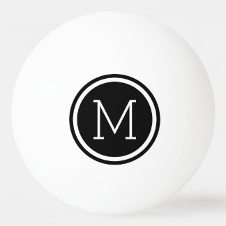 Black Monogram Personalized Ping Pong Balls