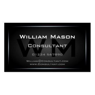 Black Monogram Professional Business Card - Hi-Res