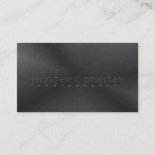 Brushed metal business cards zazzle black monotones metallic brushed aluminum look 3 business card colourmoves