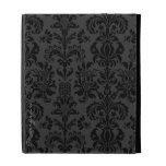 Black Monotones Vintage Floral Damasks iPad Case