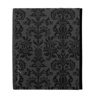 Black Monotones Vintage Floral Damasks iPad Folio Case