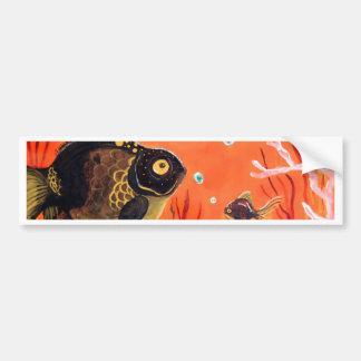Black Moor Goldfish Bumper Sticker