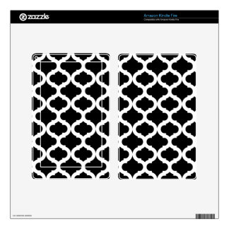 Black Moroccan Pattern Skin For Kindle Fire