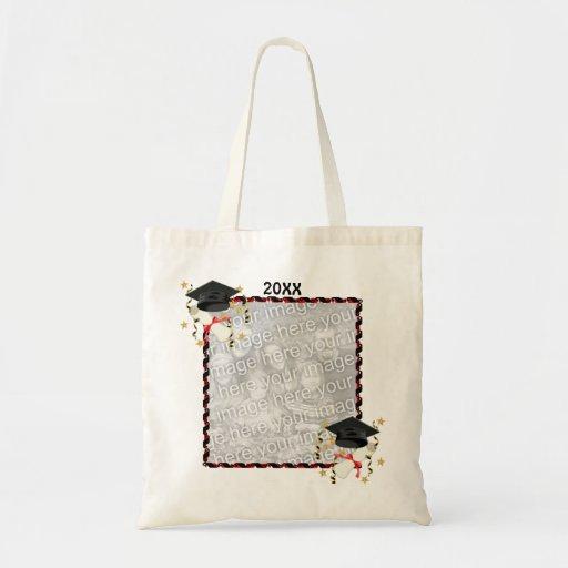 Black Mortar and Diploma Graduation Budget Tote Bag