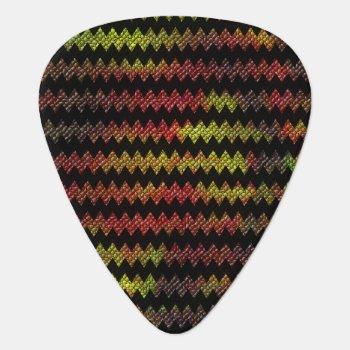 Black Mosaic Chevron Guitar Pick by Iverson_Designs at Zazzle