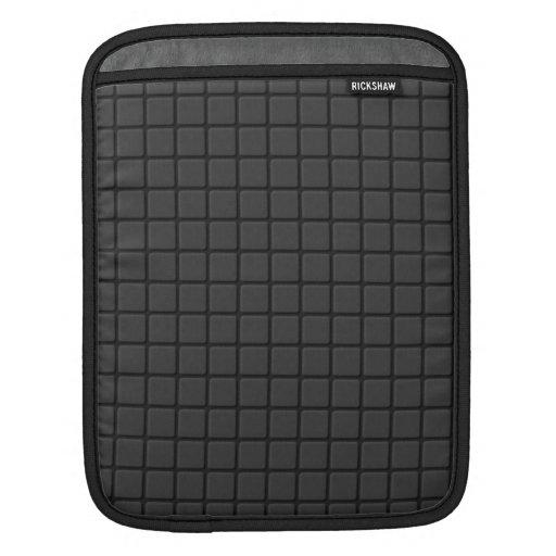 Black Mosaic Grid iPad Sleeve