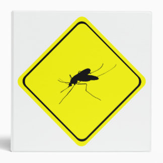 Black Mosquito Silhouette Yellow Crossing Sign Vinyl Binders