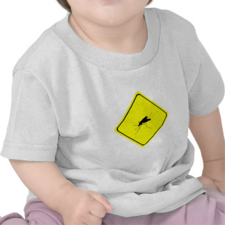 Black Mosquito Silhouette Yellow Crossing Sign Tees