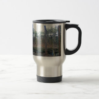 Black Moss in Delamere Forest, Cheshire Travel Mug