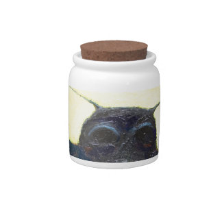 Black Moth (surreal insect painting) Candy Jar