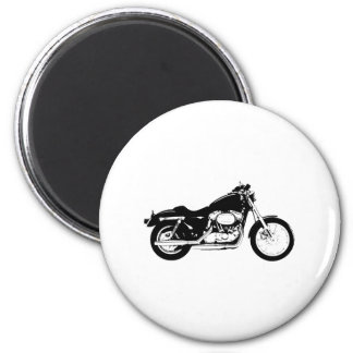 Black Motorcycle 2 Inch Round Magnet