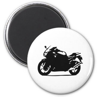 black motorcycle bike icon 2 inch round magnet