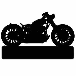 Black Motorcycle Cut Out