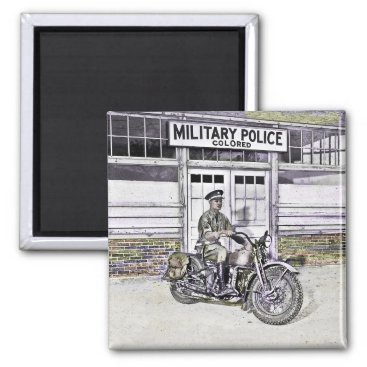 Black Motorcycle Police ww2 Magnet