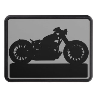 black motorcycle tow hitch covers