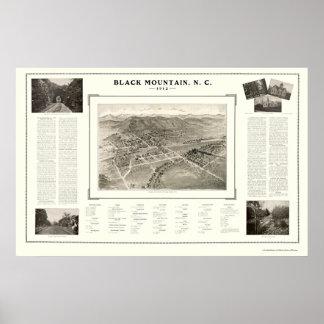 Black Mountain, NC Panoramic Map - 1912 Poster