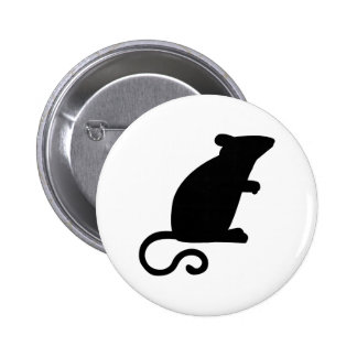Black mouse 2 inch round button